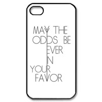 The Hunger Games Quote iPhone 4/4s Case Black and White iPhone 4/4s Case