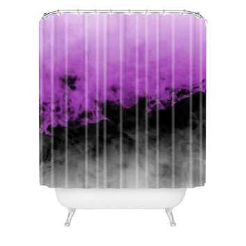 Caleb Troy Zero Visibility Radiant Orchid Shower Curtain