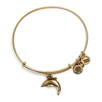 Alex and Ani Dolphin Charm Bangle Bracelet - Rafaelian Gold Finish