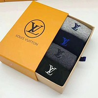 Louis Vuitton Classic Women Men LV Letter Embroidery Sport Socks