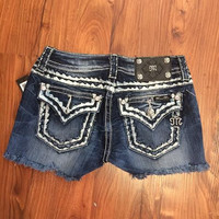 Miss Me Cut Off Denim Short