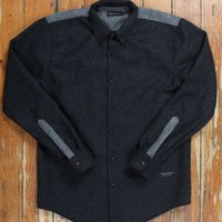 WOOLRICH BUTTON DOWN CHARCOAL/COLONIAL GREY | Up There Store