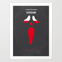 My SCREAM minimal movie poster Art Print by Chungkong