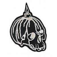 Candle Skull Large Leather Patch