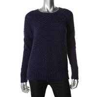 360 Sweater Womens Cable Knit Crew Neck Pullover Sweater
