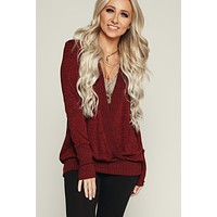 Long Days Long Sleeve Top (Wine)