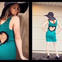Heart Cut out DRESS Made to order Upcycled by BglorifiedBoutique
