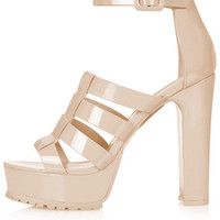 LEDGE Track Sole Platforms - Nude
