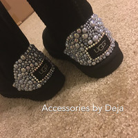 Custom uggs with Swarovski crystals
