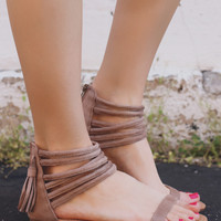 Take A Spin Sandals - Taupe