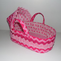 Doll Bassinet Carrier Bed for Baby Dolls Like Bitty Baby, Baby Stella, Cabbage Patch Baby, Corolle, Bitty Baby Bed, Baby Doll Carrier Bed