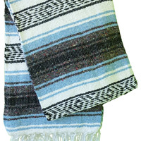 Mexican Falsa Blankets - Light Blue