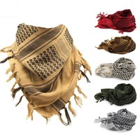 Men's Neck Cover Head Wrap  Palestine Military Arab Tactical Desert Scarf Army Tactical Airsoft  Mask Scarves Polyester