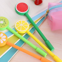 Fruit Slices Lollipop Pens Gel Pen - Set of 4 - Stationery and School Supplies
