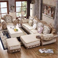 Modern Style High-End Luxurious Fabric Sofa Set
