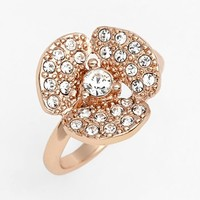 kate spade new york 'disco pansy' mini pave flower ring