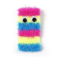 Googly Eye Rainbow Striped Cell Phone Sock  | Claire's