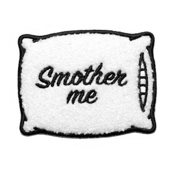 Smother Me Pillow Large Chenille Patch