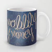 Wibbly wobbly (Doctor Who quote) Mug by Marta Lemon