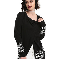 The Nightmare Before Christmas Jack Face Girls Open Cardigan