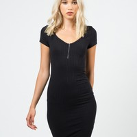 Zippered Bodycon Dress