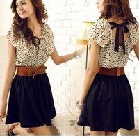 Nice backless bowknot dress from perfectmall