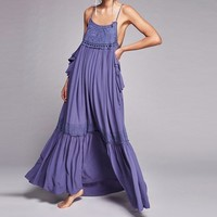 Bohemian Long Ruffled Dress