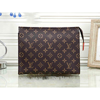 LV street fashion men and women large capacity clutch bag cosmetic bag coffee print