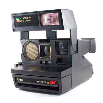 Polaroid Camera 600 Sun Autofocus 660 Hipster Retro Instant Photo / Vintage 80s