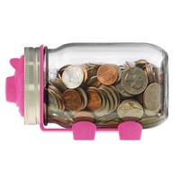 Jarware Mason Jar Re-Purposing Piggy Bank Coin Lid - Fits Regular Mouth Jars