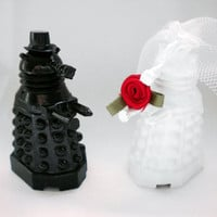 Reserved for Dee - Doctor Who Wedding Cake Toppers, Dalek Bride and Groom