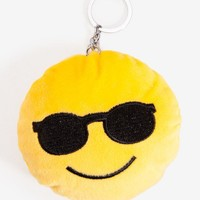 Smile Face with Sunglasses Emoji Keychain