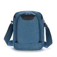 Vere Gloria Small Canvas Crossbody Shoulder for Men Women Multicam Travel Hiking Daypack Fit for Ipad Mini Tablet PC Ebook Reader