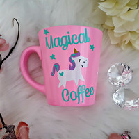 Pink Unicorn Coffee Mug