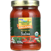 Field Day Salsa - Organic - Tomato Cilantro - Medium - 16 oz - case of 12
