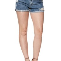 PAIGE Sarah High Waist Cutoff Denim Shorts (Vedder) | Nordstrom