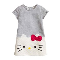 Summer Baby Girls Dress 2018 Hello Kitty Dresses for Girls Princess Dress Children Vestidos Kids Clothes Baby Dresses