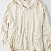 AEO Women's Don't Ask Why Oversized Hoodie (Tan)