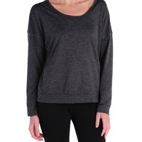 Hard Tail Long Sleeve Back Tee - Dark Charcoal