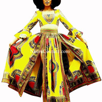 African Clothing 2 Pieces Private Custom Clothing Original Crop Top and Skirt Set MP22