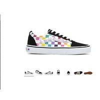 Custom Women's Vans Ward Skate Shoes Party Check