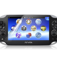 Screen Protector for PS Vita Game Console (Transparent)