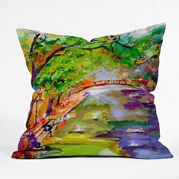 Ginette Fine Art Annecy Canal France Outdoor Throw Pillow