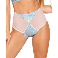 Diamond Cut Mesh High Waist Rave Bottoms