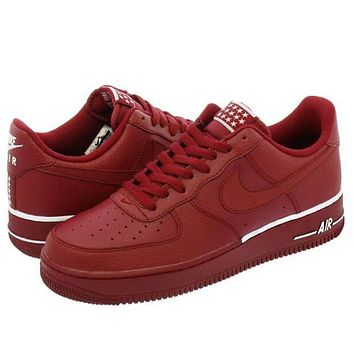 Nike Air Force 1 07 Popular Women Men Leisure Sports Running Shoes Sneakers Red I/A
