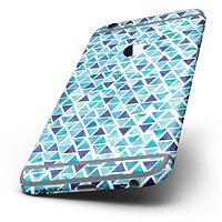 The Blue Watercolor Triangle Pattern Six-Piece Skin Kit for the iPhone 6/6s or 6/6s Plus