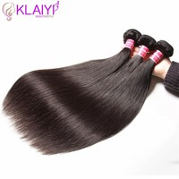Klaiyi Hair Products Brazilian Hair Weave Bundles Straight Hair Bundles 8-30 Inch Black Color 100% Human Remy Hair Weft