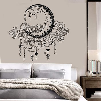 Vinyl Wall Decal Moon Clouds Bedroom Decor Stickers Mural Unique Gift (ig3694)
