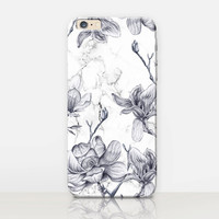 Floral Marble Phone Case For-iPhone 6 Case - iPhone 5 Case - iPhone 4 Case - Samsung S4 Case - iPhone 5C - Tough Case - Matte Case - Samsung