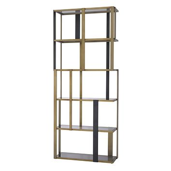 Brass 5 Shelf Display Cabinet | Eichholtz Clio